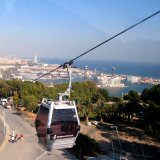 Barcelona Views of Port Vell from Montjuic Cable car upto Castell de Montjuic