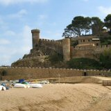 Tossa de Mar's Medieval Defensive walls, from Tossa main beach Costa Brava