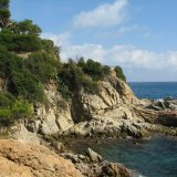 The stunning rocky coves of the Costa Brava Coast, coastal footpath between Lloret town & Fenals Beach